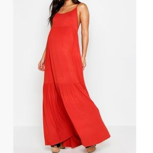 Boohoo maxi maternity dress, size 10.